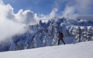 Raid à ski dans les Dolomites