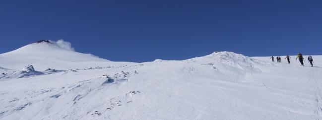 Versant nord de l'Etna, en route vers le sommet